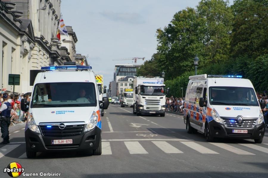 Défilé Protection Civile (photo Gwenn Corbisier)