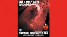 affiche Survival Firefighter Run Brabant Wallon 2017